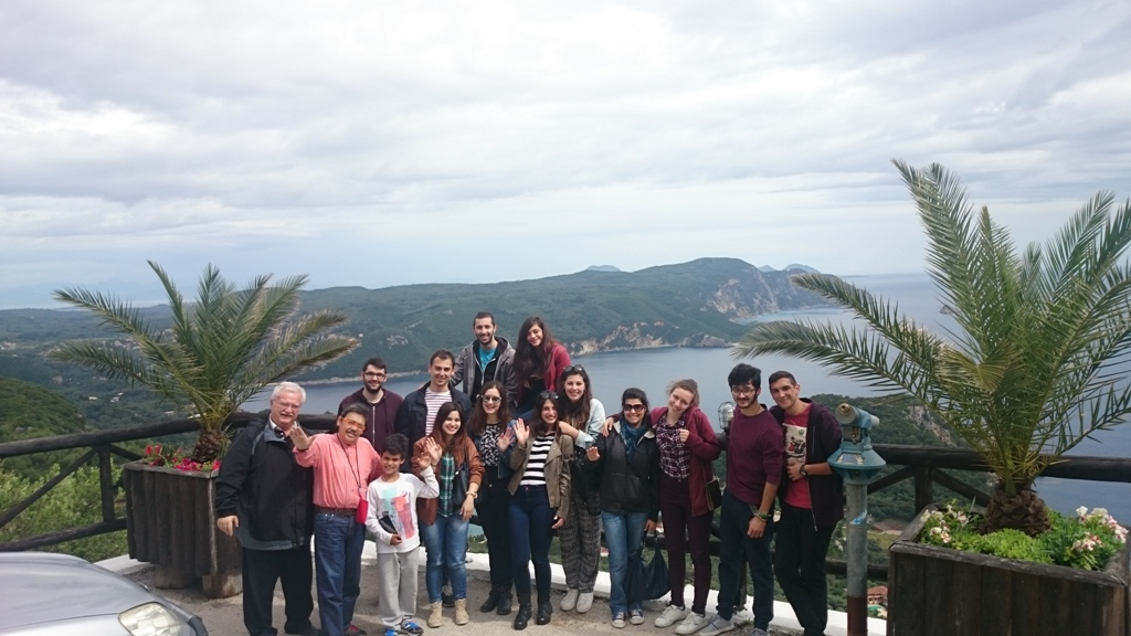 The youth group from Ioannina visit Corfu